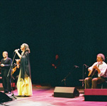 con Lucio Dalla e Elisa Ridolfi