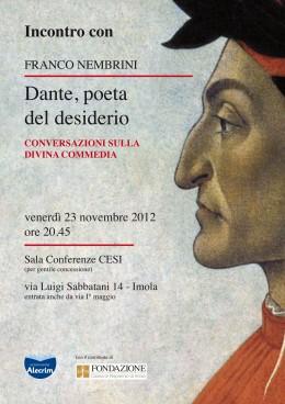 """""""Dante, poeta del desiderio"""" Conversazione di Franco Nembrini sulla Divina Commedia -  Imola 23/11/2012"""