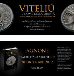 """Presentazione di """"Viteliú"""" ad Agnone - invito"""