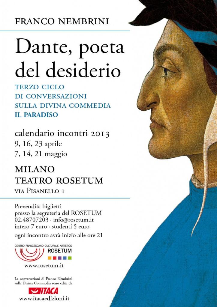 """""""Dante, poeta del desiderio"""" - 3° ciclo di conversazioni di Franco Nembrini - Il Paradiso"""