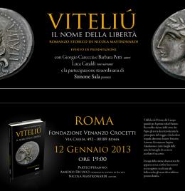 """Invito all'evento di presentazione del libro """"Viteliú"""" a Roma"""