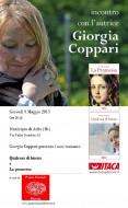 Giorgia Coppari presenta i suoi due romanzi a Adro (BS)
