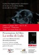 """Presentazione del libro """"La sedia di Lulù"""" a Cassana - Ferrara"""
