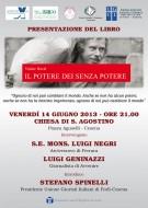 """Presentazione del libro """"Il potere dei senza potere"""" a Cesena"""