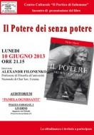 """Presentazione del libro """"Il potere dei senza potere"""" a Livorno"""