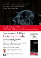 """Presentazione del libro """"La sedia di Lulù"""" nel chiostro San Paolo a Ferrara"""