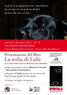 """Presentazione del libro """"La sedia di Lulù"""" a Vigarano Mainarda"""