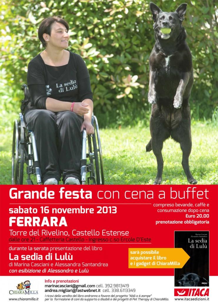 """Grande festa a Ferrara con """"La sedia di Lulù"""" - 16/11/2013"""