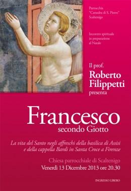 """Roberto Filippetti presenta """"Francesco secondo Giotto"""" a Scaltenigo (VE)"""