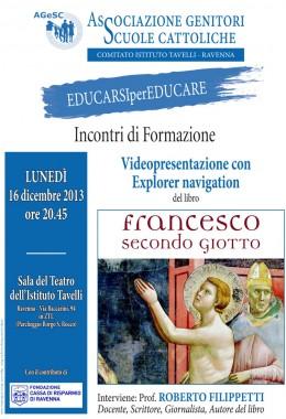 """Presentazione di """"Francesco secondo Giotto"""" a Ravenna"""