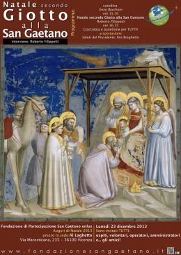 """""""Natale secondo Giotto alla San Gaetano"""": Roberto Filippetti a Vicenza"""