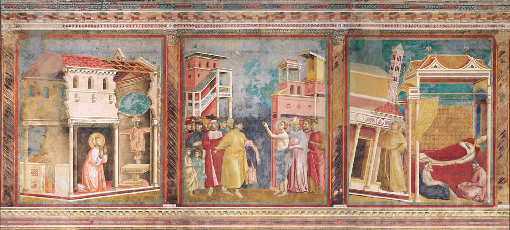 """""""Terzina"""" degli affreschi di Giotto ad Assisi"""