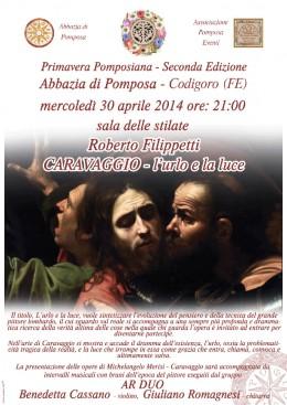 """""""Caravaggio. L'urlo e la luce"""": Roberto Filippetti all'Abbazia di Pomposa"""