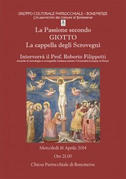 La Passione secondo Giotto. La cappella degli Scrovegni: Roberto Filippetti a Bonemerse (CR)