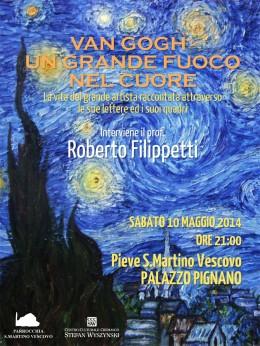 """""""Van Gogh. Un grande fuoco nel cuore"""" - Roberto Filippetti a Palazzo Pignano"""