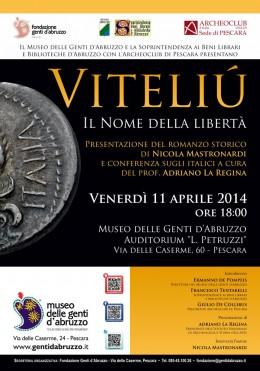 """Presentazione del romanzo storico """"Viteliú"""" al Museo delle Genti d'Abruzzo a Pescara"""
