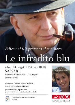 """Felice Achilli presenta """"Le infradito blu"""" a Sassari"""