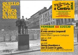 """Presentazione di """"Il mio amico Leopardi"""" - Roma 11 luglio 2014"""