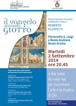 """""""Il Vangelo secondo Giotto"""" - Roberto Filippetti a Busto Arsizio"""