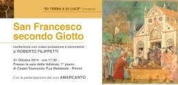 """""""Francesco secondo Giotto"""": Roberto Filippetti a Rimini"""
