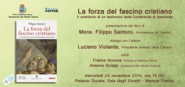 Mons. Santoro dialoga con Luciano Violante a Martina Franca (TA)