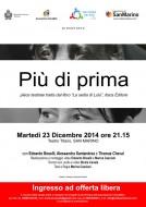"""""""Più di prima"""" a San Marino - Pièce teatrale tratta dal libro """"La sedia di Lulù"""""""