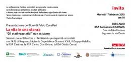 """""""La vita in una stanza"""" - presentazione a Bergamo"""