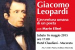 """Giacomo Leopardi. L'avventura umana di un poeta"" con Mario Elisei a Macerata"