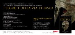 I segreti della via etrusca - presentazione alla Camera dei Deputati - 14.10.2015
