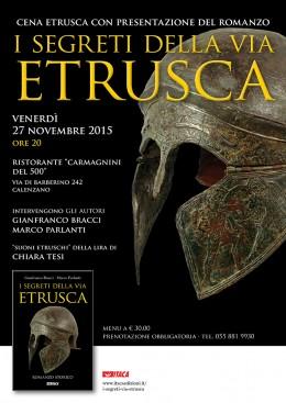 I segreti della via etrusca - cena etrusca con presentazione - Calenzano (FI) 27.11.2015