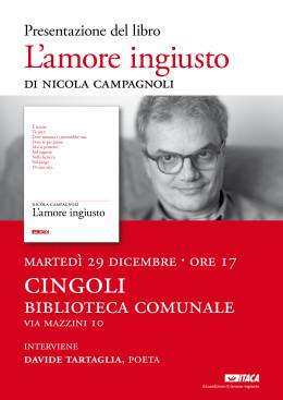 """""""L'amore ingiusto"""" - presentazione - Cingoli 29.12.2015"""
