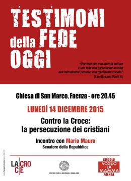 """""""Contro la croce"""": Mario Mauro a Faenza - 14.12.2015"""