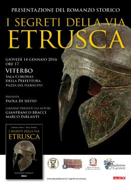 I segreti della via etrusca - Presentazione a Viterbo - 14.01.2016