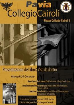 Visti da dentro - presentazione a Pavia - 26.1.2016