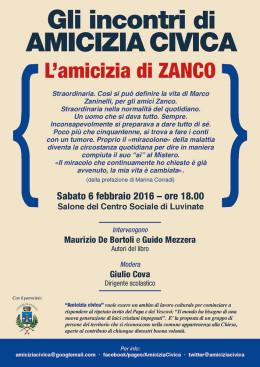 """""""L'amicizia di Zanco"""" - presentazione a Luvinate 6.2.2016"""