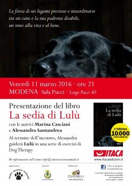 """""""La sedia di Lulù"""" - presentazione a Modena  - 11.3.2016"""