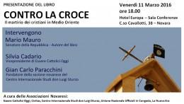 """""""Contro la croce"""" - Presentazione a Novara 11.3.2016"""