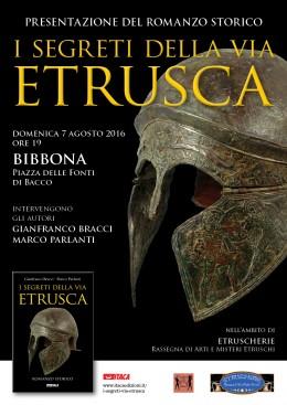 I segreti della via etrusca: presentazione a Bibbona (LI) 7.8.2016