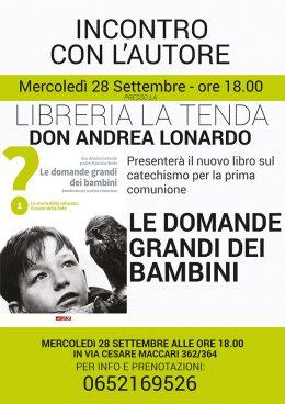 Le domande grandi dei bambini - presentazione alla Libreria La Tenda di Roma - 28.9.2016