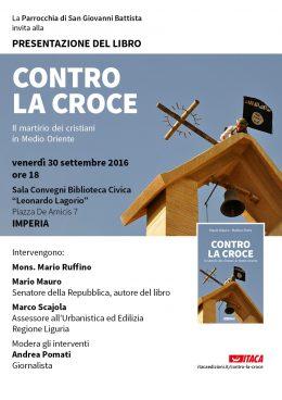 Contro la croce - presentazione a Imperia - 30.9.2016