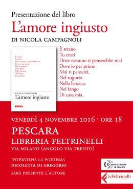 """""""L'amore ingiusto"""" - presentazione a Pescara 4.11.2016"""