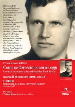 Come se dovessimo morire oggi - presentazione a Udine - 18.10.2016