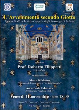 L'Avvenimento secondo Giotto - Roberto Filippetti a Salerno - 11.11.2016