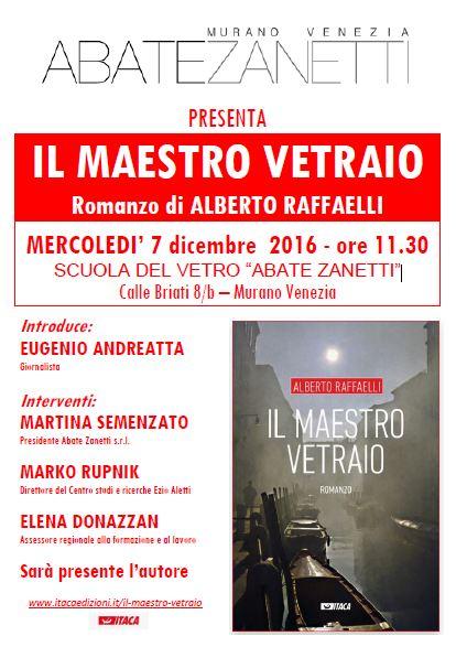 """""""Il maestro vetraio"""" - Presentazione a Murano Venezia 7.12.2016"""