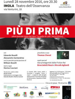 """""""Più di prima"""" tratto dal libro """"La sedia di Lulù"""" - Imola 28.11.2016"""