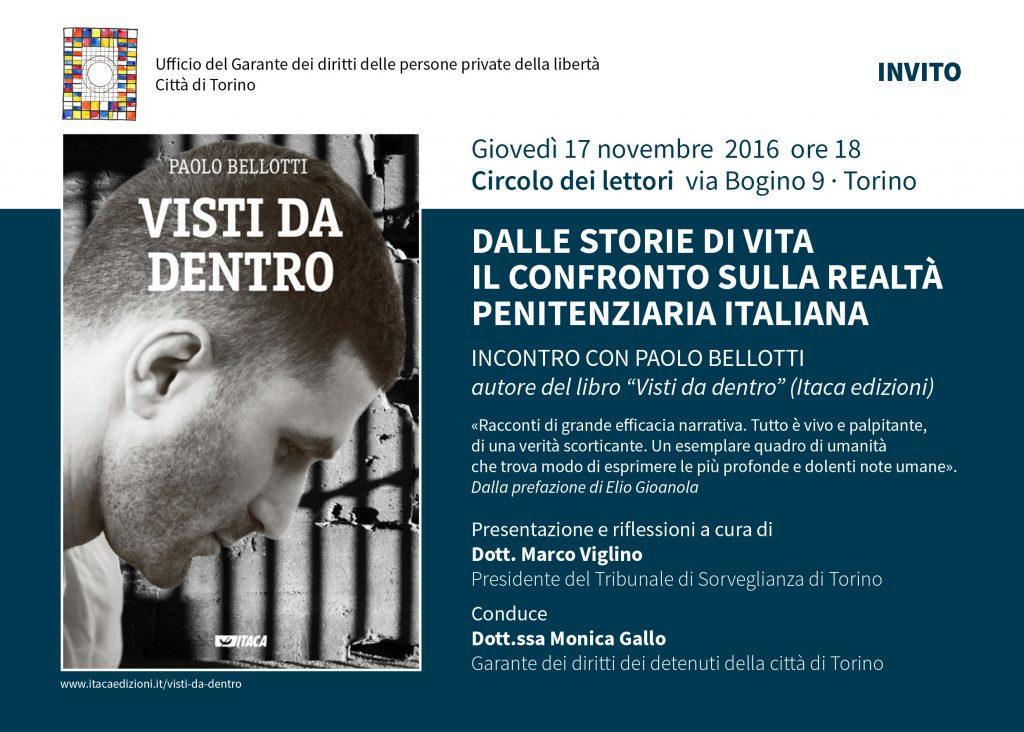 """""""Visti da dentro"""" - Incontro con Paolo Bellotti a Torino"""
