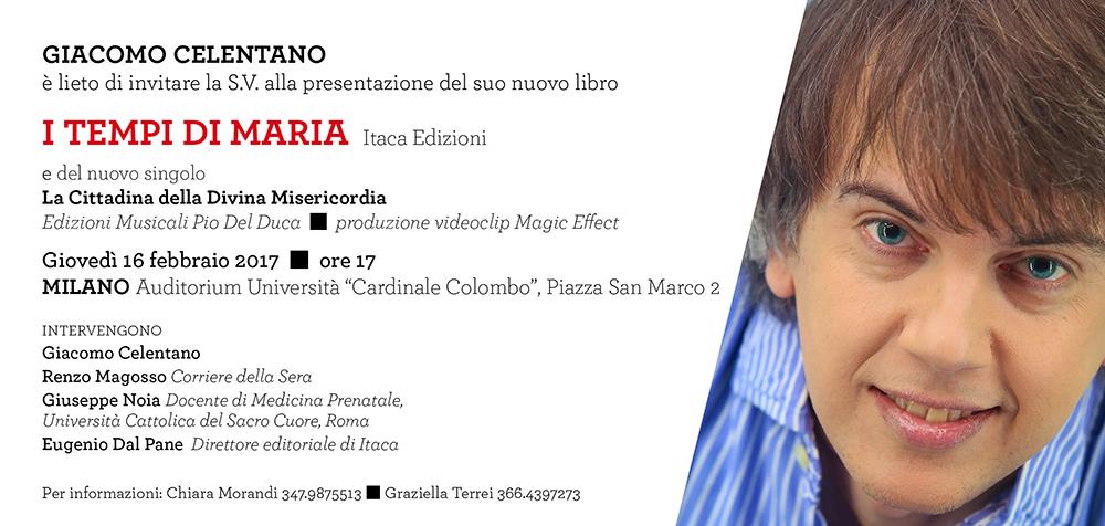 """""""I tempi di Maria"""" di Giacomo Celentano - presentazione Milano 16.2.17"""
