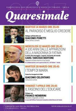 Quaresimale Imola 2017