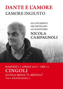 Nicola Campagnoli incontra gli studenti di Cingoli (MC)