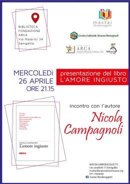 L'amore ingiusto - Presentazione a Senigallia - 26.4.2017
